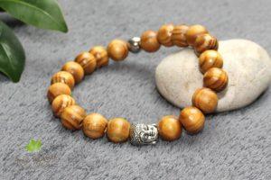 Bracelet bois naturel bouddha