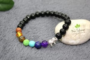 Bracelet éléphant 7 chakras