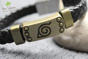 Bracelet en cuir tressé équilibre les chakras