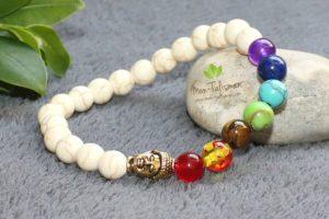 Bracelet en pierre howlite 7 chakras