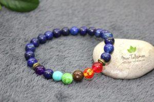 Bracelet guérison en pierres bleues
