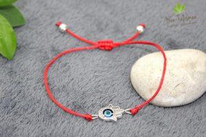 Bracelet main de fatma rouge