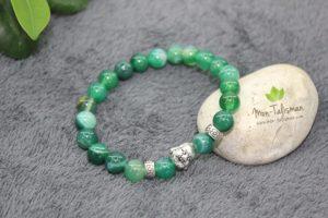 Bracelet pierre bouddha rieur