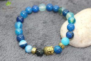 Bracelet pierres bleus bouddha