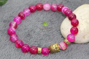 Bracelet pierres rose bouddha