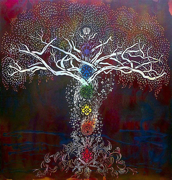 arbre de vie chakras