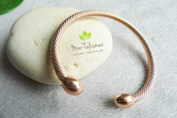 bracelet magnétique or rose