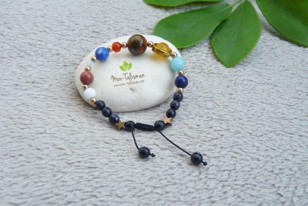 bracelet système solaire mon-talisman