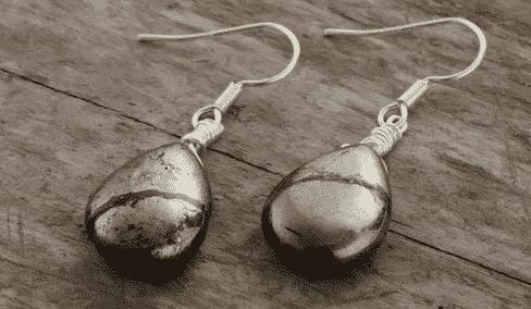 boucle d'oreille pyrite