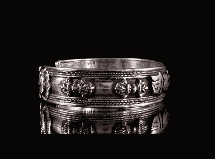 bracelet argent mantra